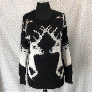 Bar III Mohair Deer Sweater
